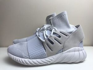 Adidas Tubular Doom PK Primeknit Shoes White UK 9.5 EUR 44 White S80509