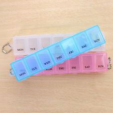 7 Day Weekly Pill Tablet Box Holder Dispenser Container Storage Case Travel Home