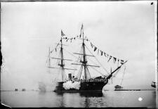 Photo 1880s Ship USS Independence Saluting