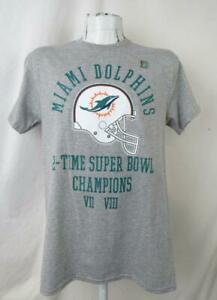 Miami Dolphins Mens Medium or Large 2 Time Super Bowl Champs T-shirt ADOL 145
