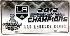 NHL Hockey License Plate Laser Tag 2012 Stanley Cup Champions Los Angeles Kings