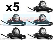 5x 12V / 24V ANTERIORE BIANCO / chiaro SMALL ROUND LED pulsante Marcatore Lampada / Luci Universale