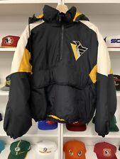 Vintage Pittsburgh Penguins Coat Sz XL NHL 90s Jacket Pullover Hockey Rare Hoody