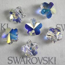 12 pcs  Swarovski Element 5744 6mm Flower Shaped Crystal Beads Clear AB