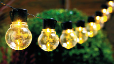 Retro Solar String of Light Bulb Lights - Outdoor Garden Lamp LED Set of 10