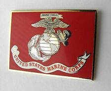 US MARINE CORPS USMC MARINES RECTANGLE LAPEL PIN BADGE 1.5 INCHES