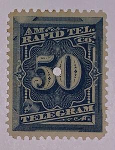 Travelstamps: US Revenue stamp scott #1t8 50 cent American Rapid Tele Company
