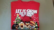 """New Angry Birds """"Let It Snow"""" Men's T-Shirt"""