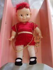 "Jesco Cameo Kewpie Doll Flapper Red Dress 12"""