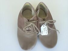 Dance Jazz Shoes Tan Tie Up  Mesh and Leather Size 4.5M
