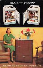 General Air Conditioning Cook On Refrigerator CA Advertising Chrome P186
