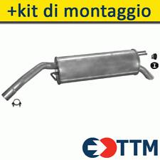 FIAT STILO HATCHBACK 1.2 80HP 2001-2003 Silenziatore Marmitta Posteriore+