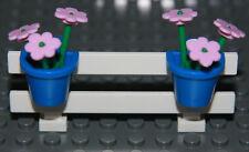 ☀️NEW LEGO City White Fence Pink Flowers Belville House Garden Girl Minifigure