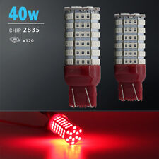2X 7443/7440 40W High Power Red SMD 120-LED Brake Stop Parking Tail Light Bulbs