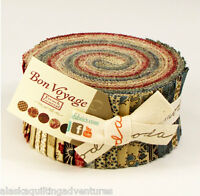 """Moda FABRIC Jelly Roll ~ BON VOYAGE ~ by French General 40 - 2 1/2"""" Strips"""