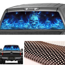 Pickup Rear Window Flaming Skull Cool Decal Waterproof Decoration Sticker Size L