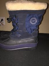 EUC Ugg Kids Boys Navy Blue Winter Snow Boots 3288 YOUTH Size 5 / EU 35