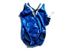 Nwt Gk Gymnastics Leotard Al Sleeveless Adult Large Moonstone Rich Royal