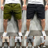 Mens Causal Sport Gym Short Pants Pocket Drawstring Summer Jogging Shorts CA