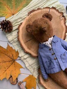 Artist Teddy bear, Christmas gift, Retro style, aesthetic room decor