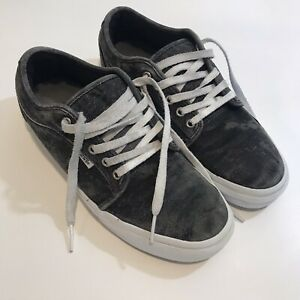 VANS Pro Off The Wall Classic Gray/Black Canvas Lace Up Skate Shoes Mens Sz 9