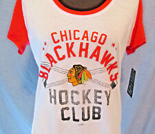 NEW Chicago Blackhawks Hockey Club Womens Size Large NHL Tee Shirt Top Hawks