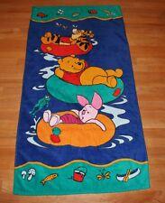 Winnie Pooh Towel Disney Exclusive 100% Cotton Bath Pool Beach 27x55 Bright Soft