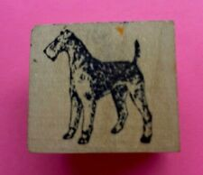 Airedale Terrier Rubber Stamp