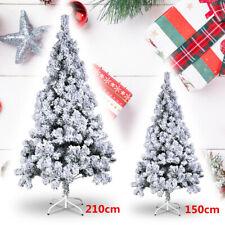 Künstlicher Weihnachtsbaum Tannenbaum Christbaum 150/210cm Weiß Tanne Luxuriös