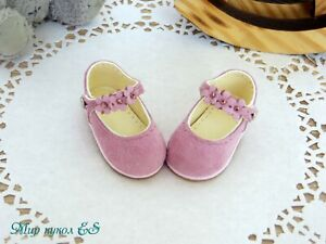 Dianna Effner / Little Darling Doll shoes Handmade Natural leather