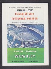Panini - Football 84 - # 254 1961 FA Cup Final - Leicester v Tottenham