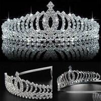 Crystal Tiara Wedding Hair Crown Queen Pageants Headband Bridal Rhinestone Bride