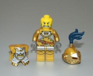 Lego Gold crown Knight plume Fantasy Era Castle minifigure 7079