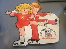 CAMPBELL'S SOUP KIDS PROMO STORE DISPLAY SIGN WINTER OLYMPICS FIGURE SKATING