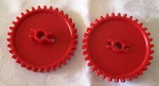 K'NEX Crown Gear Medium RED - KNEX - 55mm diameter with 34 teeth - 2 Pieces