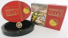 2013 P 1/10 oz .9999 Gold Australian Lunar Series 2 Year Of The Snake Box & COA
