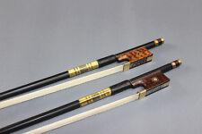 New light carbon fiber 4/4 violin bow white horse hair bow snake wood frog 2 pc