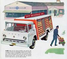 Old Print. 1961 Ford C-600 Beverage Truck Advertisement