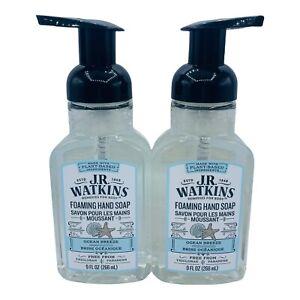 2x J.R. Watkins Foaming Hand Soap Ocean Breeze Plant Based Paraben free 9 oz