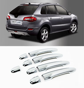 Chrome Door Handle Catch Molding Cover 9p For 2008 2013 Renault Koleos QM5