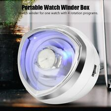 Cover Storage Organizer Automatic Rotation Deluxe Watch Winder Box Transparent