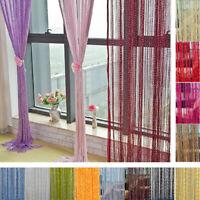 String Door Curtain Beads Hanging Wall Panel Room Divider Doorway Home Decor
