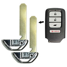 2 For Honda Replacement Blade Emergency Insert Uncut Blank Prox Smart Key Remote