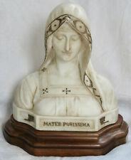 BUSTE DE MADONE, VIERGE MARIE, MARBRE, ATTILIO FAGIOLI, FIN XIX°