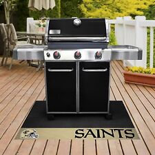 "New Orleans Saints 26"" x 42"" Vinyl Grill Mat"