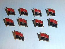 Wholesale Lot of 10 Angola Flag Lapel Pin, Brass Finish, BRAND NEW