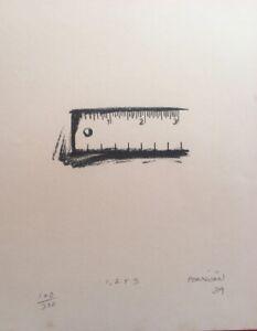 Calcography by Eduardo Ponjuán González  ̈1,2 y 3 ̈, original signed