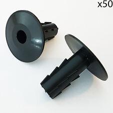 50x 8mm Negro Solo Cable arbustos-feed a través de la pared cubierta-coaxial/SAT agujero ordenado