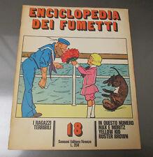 1970 ENCICLOPEDIA DEI FUMETTI Italian Comic Cartoon Magazine 20 pgs #18 FN+