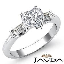 Brillante Corte Corazón Diamante Tres Piedras Anillo de Compromiso GIA F VS2
